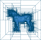 Adaptive octree approximation of the horse model to level 3